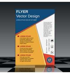 Professional flyer design template vector