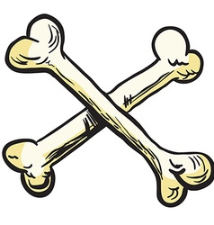 Crossed bones vector