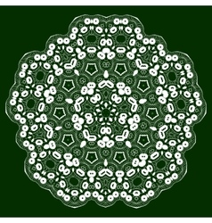 Mandala lace ornament vector image