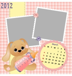 Babys monthly calendar for 2012 vector