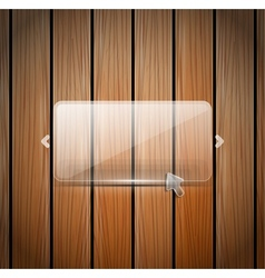 glass and wooden wall vector image