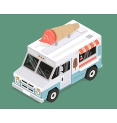 Cool isometric ice cream van vector