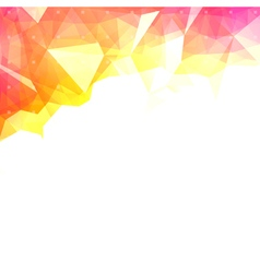 Abstract colorful low poly background vector