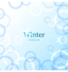 Abstract light winter background vector image