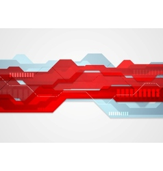 Abstract red blue tech geometric vector image vector image