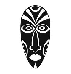 African mask icon simple style vector