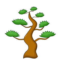 bonsai tree icon cartoon style vector image vector image