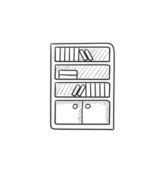 Bookcase sketch icon vector image