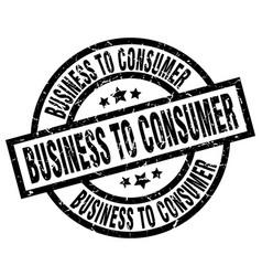 Business to consumer round grunge black stamp vector