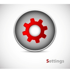 Button of settings vector image vector image