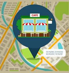 Cafe location map vector