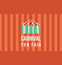 Carnival funfair with tent background vector
