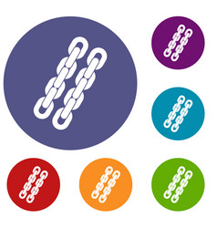 Chains icons set vector