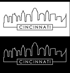 Cincinnati skyline linear style editable file vector
