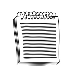 Contour of notebook of spiral with sheets vector