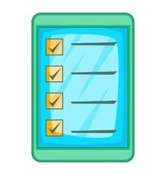 Digital checklist icon cartoon style vector