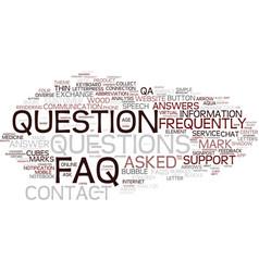 Faq word cloud concept vector