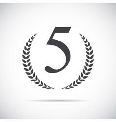 Fifth Place Laurel Design Label vector image vector image