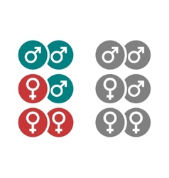 Gender symbols in circles vector image vector image