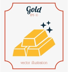 gold bars vector image