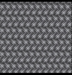 gray wicker seamless pattern vector image vector image