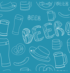 hand drawn beer seamless pattern decorative vector image