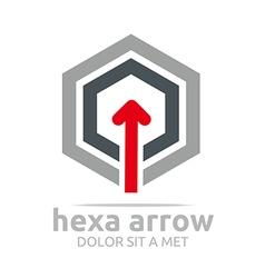 Hexa arrow design element symbol icon vector