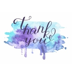 Inscription on blue grunge - thank you vector
