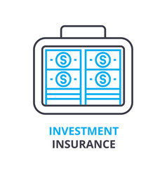 investment insurance concept outline icon vector image