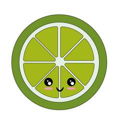 Isolated half cut lemon vector