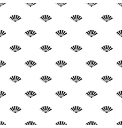 Japanese fan pattern simple style vector image