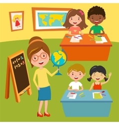 Kids school or baby club lessons vector