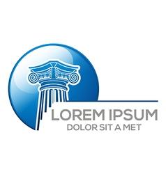 Logo abstract law building vector