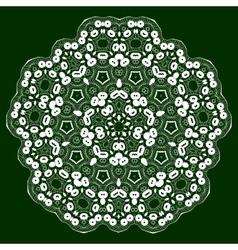 Mandala lace ornament vector image vector image