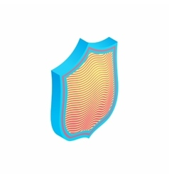 Protection shield icon isometric 3d style vector image