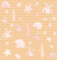 Seamless sea background vector image vector image