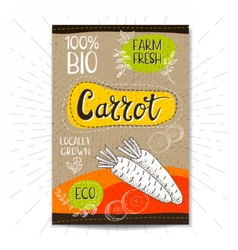 Set of hand drawn labels food spices vector image vector image
