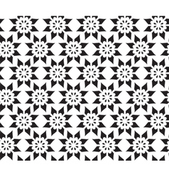 Simple abstract seamless pattern of flower vector