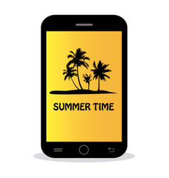 Summer time - tropical island vector