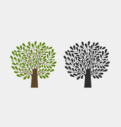Tree logo or symbol nature garden ecology vector