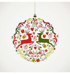 Vintage Christmas elements bauble design EPS10 vector image