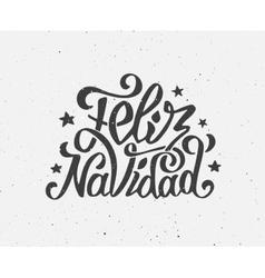 Vintage feliz navidad typographic poster vector
