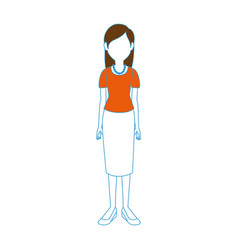 young woman cartoon vector image vector image