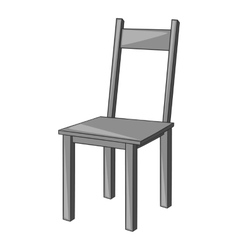 Chair icon gray monochrome style vector