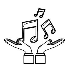 Music notes symbols vector