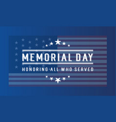 Happy memorial day for banner collection vector