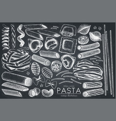 collection of italian pasta vector image