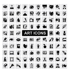 Art icons set vector