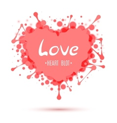 Abstract heart blot isolated on white vector