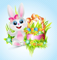 Cute female rabbit vector